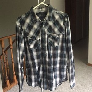 Plaid American Rag Button Down Shirt